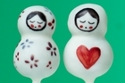 Clare O'Connell's pop-tastic Russian dolls. Photo / Pop Bakery/Cico Publishing