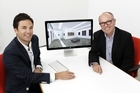 Simon Fisher (L) and Christopher Taylor say Ocula customers can bid and buy artworks through the site. Photo / Supplied