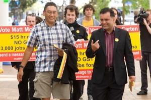 Matt McCarten (right) and Hone Harawira. File photo / Mark Mitchell