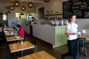 Hinemoa Street Organic Cafe, Birkenhead. Photo / Richard Robinson