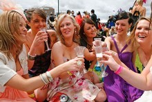 It's only a drink at the Caulfield Cup, but the consequences could be grim if cancer experts are right. Photo / Getty Images