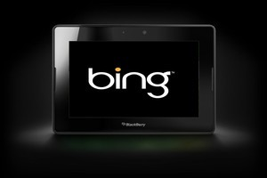 Microsoft's Bing will be the default search engine on BlackBerry devices, including the new Playbook tablet.