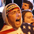 A crowd reacts to the news of Osama bin Laden's death at the corner of Church and Vesey Streets, adjacent to ground zero in New York. Photo / AP