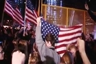 Hundreds of people gathered in celebration at Ground Zero in New York City, after US President Barack Obama announced the death of Osama bin Laden.