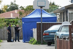 Police and forensic staff at the scene relating to the murder of 6-month-old Serenity-Jay Scott-Dinnington in Ngaruawahia. Photo / Herald on Sunday