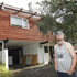 114 Roseberry Avenue. Mathew Smith outside his undamaged home at 114 Roseberry Avenue in Birkenhead.  Photo / Sarah Ivey