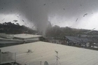Tuesday's tornado in Auckland. Photo / Tim Wang