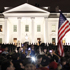 Crowds gather outside the White House in Washington. Photo / AP