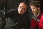 Director Danny Boyle (pictured left with Aron Ralston) says he made James Franco work at a fast pace. Photo / Supplied