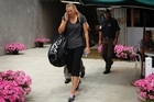 Maria Sharapova leaves the ASB Tennis Centre after her loss. Photo / Sarah Ivey