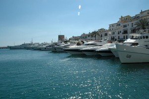 Luxury yachts in the harbour in Marbella. Photo / Supplied