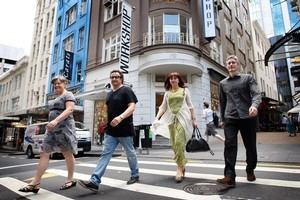 Heather Gerbic, Chris Cherry, Michelle Deery and John Courtney  have helped form the High St Guild.  Photo / Sarah Ivey