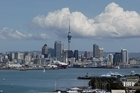 The Auckland city skyline from North Head, Devonport. Photo / Dean Purcell