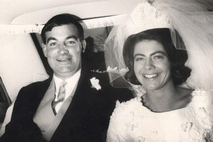 Harvey Crewe and Jeanette Crewe on their wedding day June 18 1966. Photo / Supplied