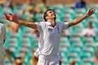 James Anderson of England celebrates after dismissing captain Michael Clarke. Photo / Getty Images