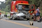 The scene of the crash in Albany. Photo / NZPA