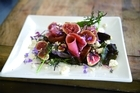 Fig, prosciutto and goats cheese salad. Photo / Supplied