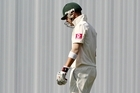 Australian captain Michael Clarke leaves the field after being dismissed in his side's second innings. Photo / Getty Images