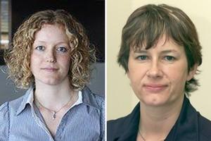 Professor Susan Watson (right) and PhD student Rebecca Hirsch. Photos / Supplied, Brett Phibbs