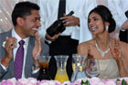 Vikram Aditya Kumar and Pooja Chitgopekar had about 500 guests at the Formosa Golf Resort. Photo / Herald on Sunday