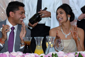 Vikram Aditya Kumar and Pooja Chitgopekar had about 500 guests at the Formosa Golf Resort. Photo / Herald on Sunday