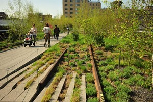 New York's High Line, which opened in 2009, is  a park built on abandoned railway lines above the streets of Manhattan. Photo / Supplied