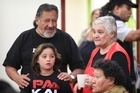 Maori Party Leaders  Pita Sharples and Tarana Turia catch up with Mrs Turia's granddaughter Piata. Photo / Greg Bowker
