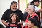 Maori Party Leaders  Pita Sharples and Tarana Turia catch up with Mrs Turia's granddaughter Piata. Photo / Greg Bowker