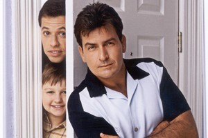 Two and a Half Men, starring Charlie Sheen, is a string of off-colour but hilarious gags. Photo / Supplied
