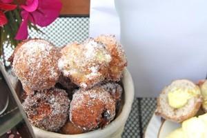 Krafne - Mama's dalmatian doughnuts. Photo / Ian Jones