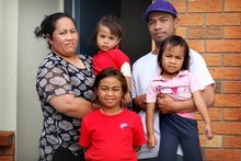 The Tomasi family used to live in an overcrowded two-bedroom house. Photo / Natalie Slade