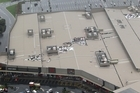 Repairs to the damaged roof of the Albany mall are almost completed. Photo / Paul Estcourt
