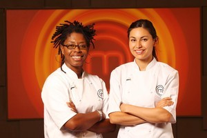 MasterChef finalists Jax Hamilton and Nadia Lim. Photo / Supplied