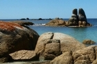 Heavy silica sand from the granite boulders means the water stays beautifully clear. Photo / Pamela Wade
