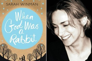 The cover of When God Was A Rabbit, and, right, author Sarah Winman. Photos / Supplied