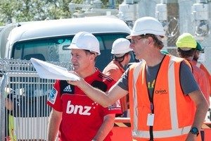 Roger Sutton - seen here with Prime Minister John Key - has already become a familiar face of the Christchurch quake recovery. Photo / NZPA