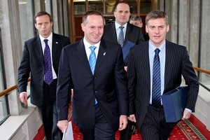 John Key and Bill English will be expected to flesh out their agenda for economic growth. Photo / Getty Images