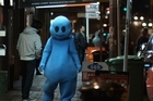 <i>Blue</i> tells the story of a former children's television show alien mascot who struggles to hold down a job at an Asian restaurant. Photo / Supplied