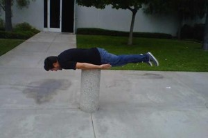 'Planking' is unlikely to cause death - unless mixed with booze. Photo / Supplied