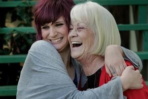 Danielle Vivian with her grandmother Diane Vivian. Photo / Brett Phibbs