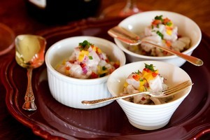 The lemon in ceviche not only cures the fish but flavours it too. Photo / Babiche Martens