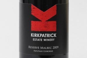Kirkpatrick Estate Winery Patutahi Gisborne Reserve Malbec 2009 $35. Photo / Paul Estcourt