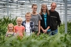 Joe and Annemieke Sonneveld of Drury with four of their six children (from left), Joanna, 4, Amy, 7, Samuel, 9, and Suzanne, 17. Photo / Sarah Ivey