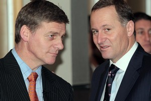 Bill English and John Key have used negative events to explain their lack of results. Photo / APN