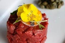 The steak tartare at Page's Restaurant. Photo / Steven McNicholl 