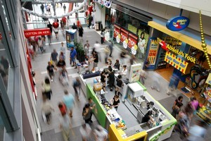 Christmas shoppers at Kiwi Income Property Trust's Slyvia Park mall last year. Photo / Steven McNicholl