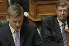 Bill English, Minister of Finance, summarsies Budget 2011 at Parliament.