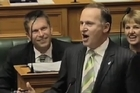 Labour's Phil Goff and Prime Minister John Key react to Budget 2011.
