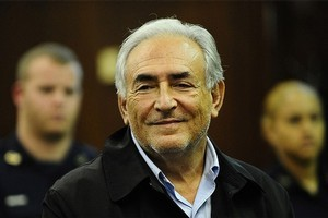 IMF head Dominique Strauss-Kahn in Manhattan's Criminal Court, New York. Photo / AFP