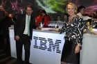 IBM Global Business Services, Australia New Zealand, managing director Andrew Stevens and IBM New Zealand's managing director Jennifer Moxon. Photo / supplied